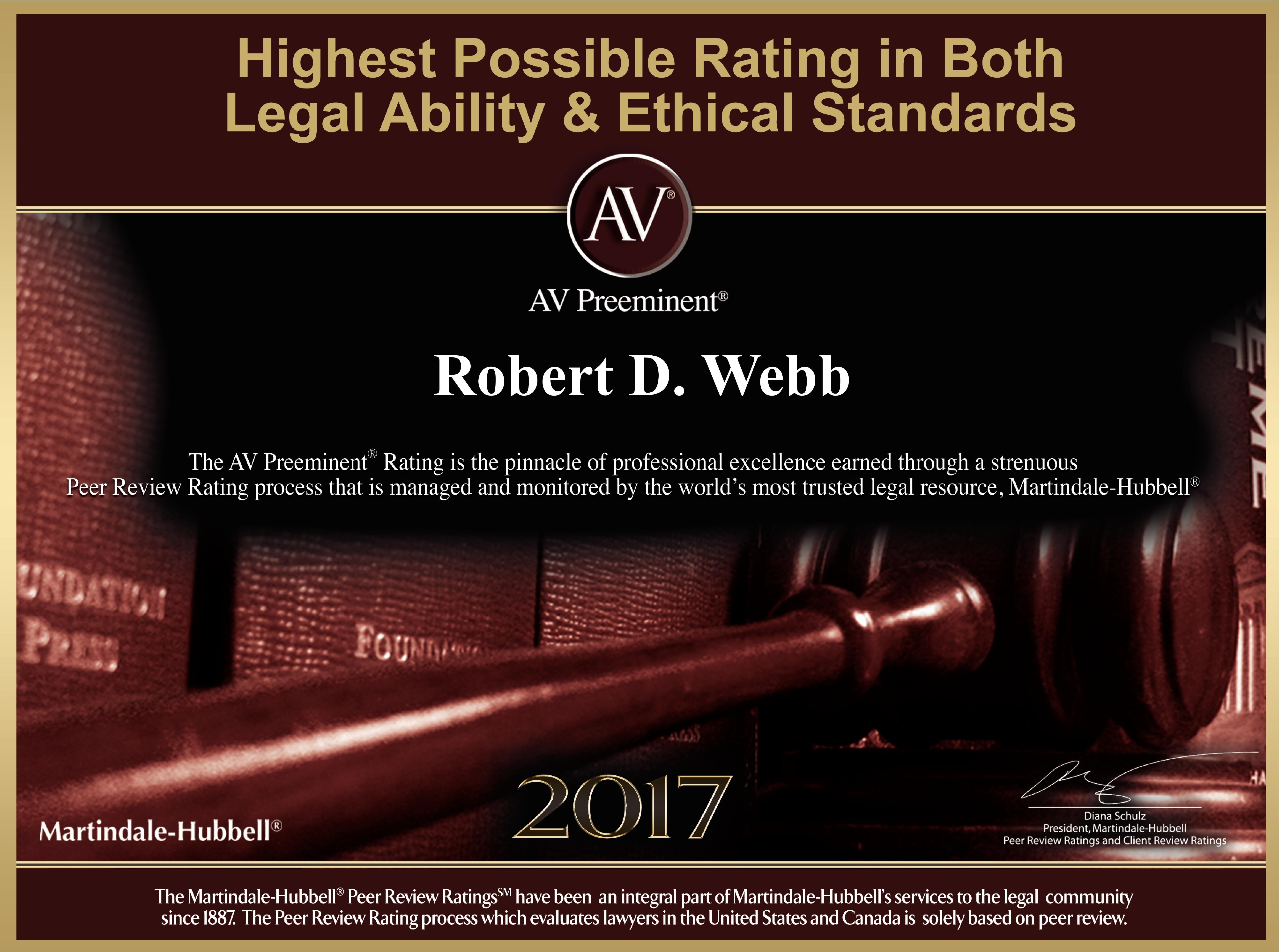 Robert D. Webb, AV Preeminent